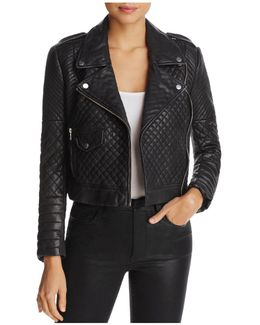 Michelin Quilted Leather Moto Jacket