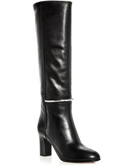 Women's Shaw Leather Tall High Heel Boots