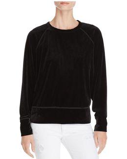 Velvet Raglan Sweatshirt