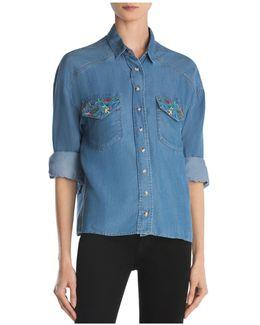 Bird Embroidery Shirt