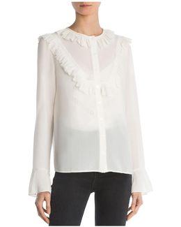 Ruffled Flare-cuff Shirt