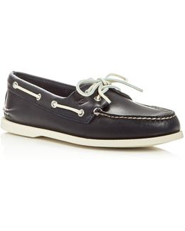 Men's Authentic Original Two Eye Leather Boat Shoes