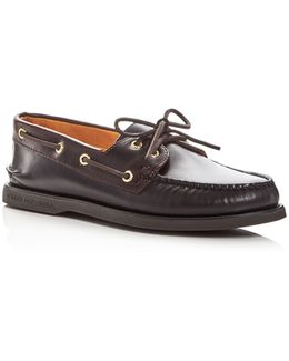 Men's Gold Cup Authentic Original Two-eye Leather Boat Shoes