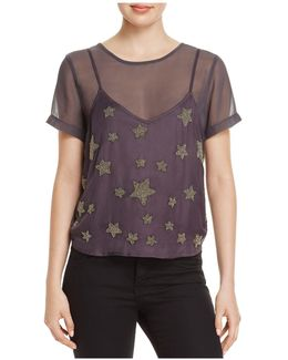 Colton Layered-look Beaded Top