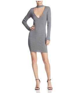 Teagan Cutout Rib-knit Dress