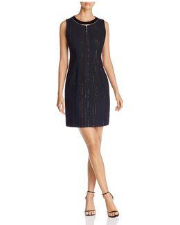 Cambria Metallic Stripe Dress
