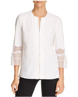 Anvara Lace Bell Sleeve Blouse