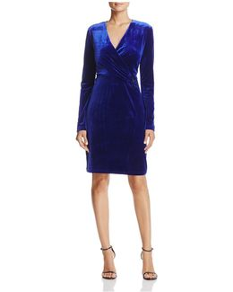 Maureen Velvet Faux-wrap Dress