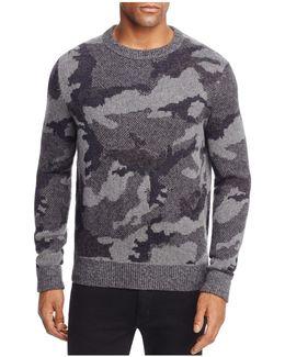 Armieto Camouflage Print Crewneck Sweater