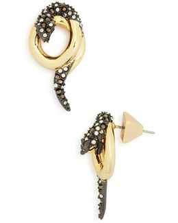 Coiled Snake Post Earrings