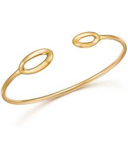 18k Yellow Gold Cherish Link Open Cuff