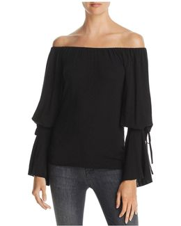 A Wish Away Off-the-shoulder Sweater