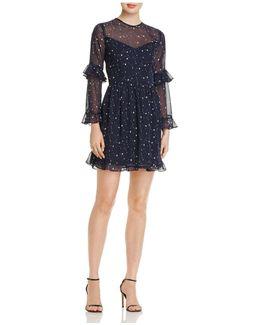 Ruffled Star Print Dress