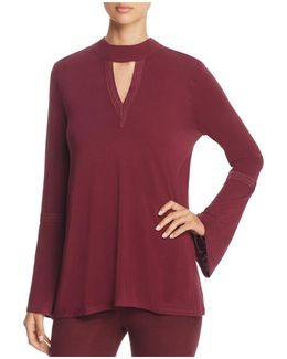 Ainsley Embroidered Bell Sleeve Top