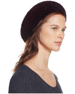 Mink Fur Knit Hat