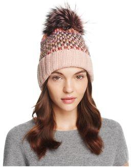 Knit Multi-color Pom-pom Beanie