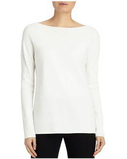 Ribbed V-back Sweater