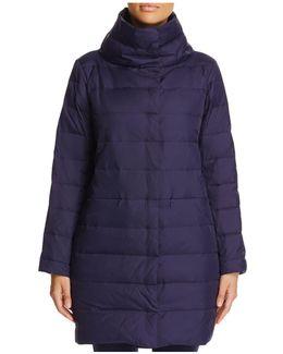 Funnel-neck Puffer Coat