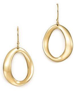 18k Yellow Gold Cherish Single Link Drop Earrings