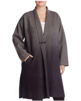 Ombré Merino Wool Kimono Coat