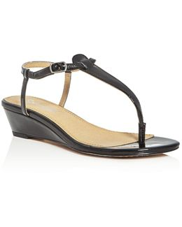 Justin T-strap Thong Demi Wedge Sandals