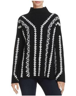 Ella Embroidered-patten Sweater