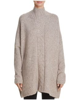Ora Oversize Cable-knit Detail Sweater