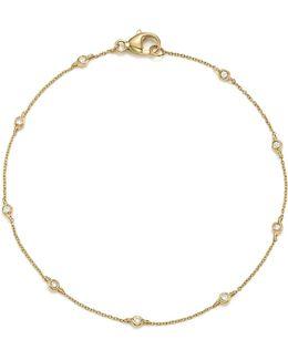 14k Yellow Gold Lulu Jack Diamond Bezel Station Bracelet