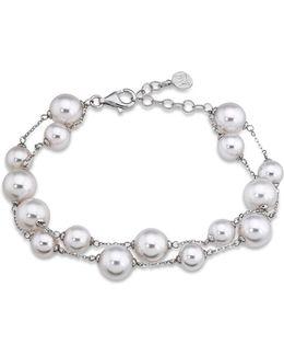 Simulated Pearl Beaded Bracelet