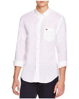 Linen Regular Fit Button-down Shirt