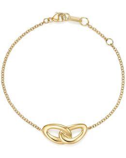 18k Yellow Gold Cherish Interlocking Links Bracelet