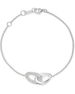 Sterling Silver Cherish Diamond Interlocking Link Bracelet