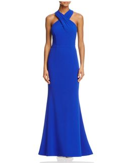 Cross-front Gown