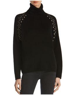 Studded-sleeve Sweater