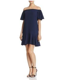 Flounced Off-the-shoulder Dress