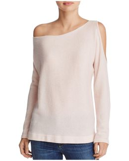 Open-shoulder Cashmere Sweater