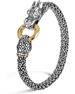 Sterling Silver & 18k Gold Naga Dragon Bracelet