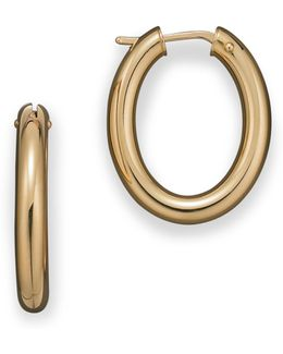 18 Kt. Yellow Gold Small Hoop Earrings