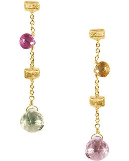 """paradise Collection"" 18 Kt. Yellow Gold Earrings"