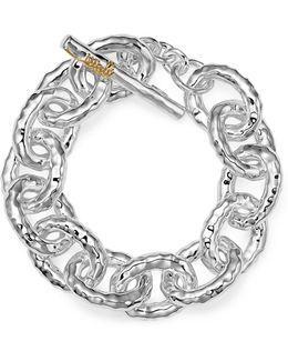 """Sterling Silver """"mini Bastille"""" Chain Bracelet"""
