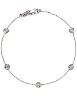 18 Kt. White Gold Bezel-set Diamond Bracelet