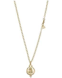 18k Yellow Gold Angel Pendant With Diamonds