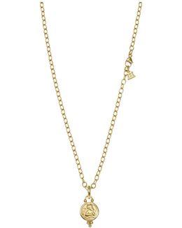 18k Gold Angel Pendant