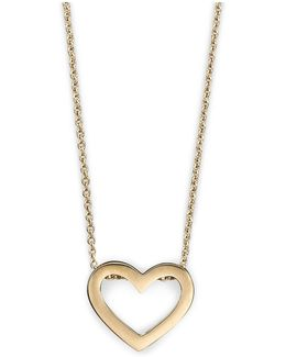 Tiny Treasures 18k Yellow Gold Heart Pendant Necklace