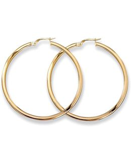 Medium 18k Yellow Gold Hoop Earrings