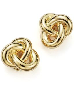 18k Yellow Gold Knot Earring