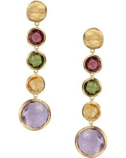 Jaipur 18k Yellow Gold And Multi-stone Drop Earrings