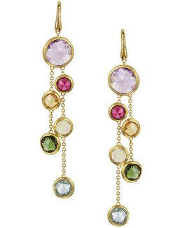 Jaipur 18k Yellow Gold And Multi-stone Double Drop Earrings