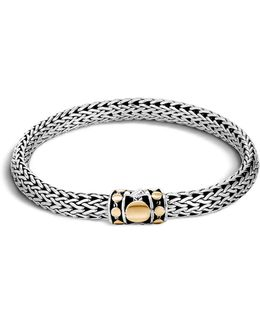 Sterling Silver And 18k Bonded Gold Dot Medium Chain Bracelet