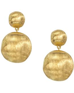 """africa Collection"" 18k Yellow Gold Bead Drop Earrings"